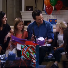 Patrick, Sam, Emma, Danny and Anna celebrate Patrick's birthday