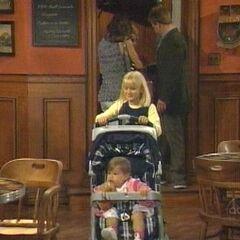 Serena pushes Christina's stroller