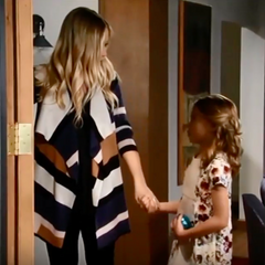Charlotte and Lulu have a sweet moment