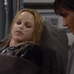 Lante in the hospital after being trapped (2009)