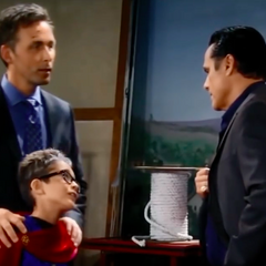 Valentin with his grandnephew Spencer and Sonny Corinthos