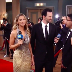 Nikolas and Hayden arrive on the red carpet