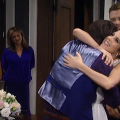 Spinelli surprises Sam to officiate the wedding