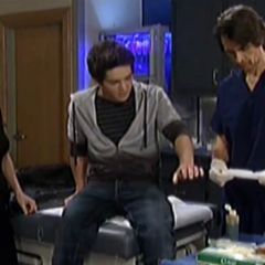 Rafe hurts his hand after he punches a wall