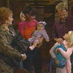 Christina with mom, dad, sister Serena and aunt Charlene