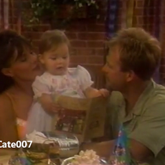 Baby Christina with mom and dad