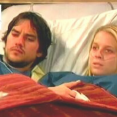 Spencer's parents, Nikolas and Courtney in the hospital during her pregnancy