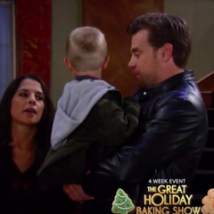 JaSam and their son, Danny on Thanksgiving