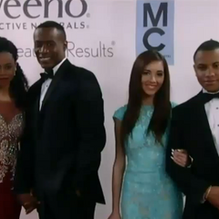 Jordan and Shawn, TJ and Molly on the red carpet