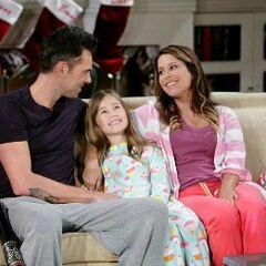 Patrick, Robin and Emma on Christmas 2013