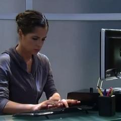 Sam hacks into the clinic computer