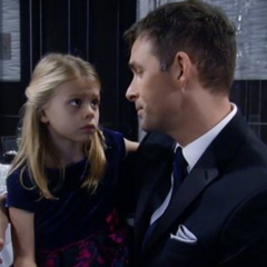 Charlotte comforted by her papa about what Lulu said