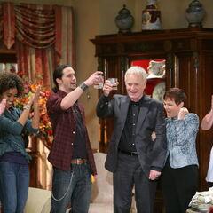 Thanksgiving 2010: Edward, Maya, Ethan, Luke, Tracy, maid Alice