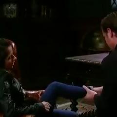Jason checks Sam's ankle