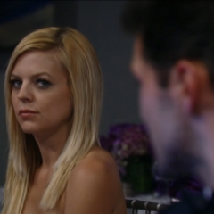 Nathan and Maxie look at each other during the Ball