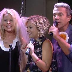 Mac, Maxie, and Felicia sing karaoke