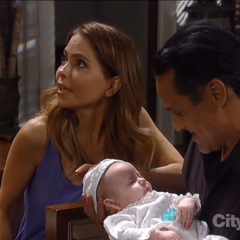 Georgie with Sonny and Olivia-naming her Connie