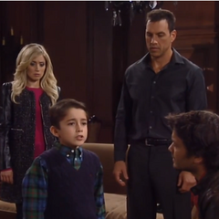 Spencer with Nikolas, Dante and Lulu