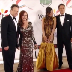 Kevin, Lucy, Bobbie and Scott on the red carpet