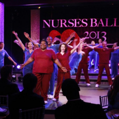 The Nurses' Ball, which is held in <b>Metro Court's</b> Ball Room.