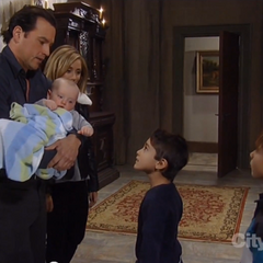 Nikolas, Rocco and Lulu with Cameron and Spencer