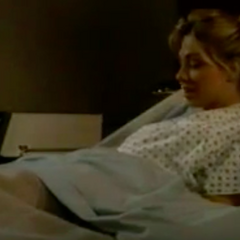 Carly talks to Michael while in the hospital