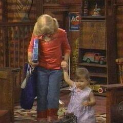 Christina walks with her sister