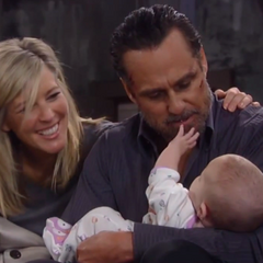 Sonny and Carly with Avery