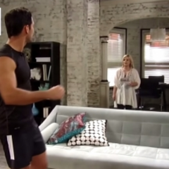 Maxie walks in on Nathan dancing