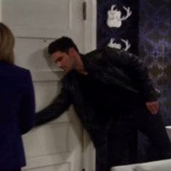 Nathan goes to open the door for Maxie