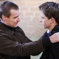 Jasper and then-stepson Michael Corinthos