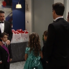 Spencer and his father, Nikolas arrive at the ball