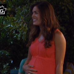 Britt during her pregnancy