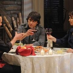 Dante, Sonny and Olivia have dinner