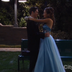 Rafe and Molly dance in the park
