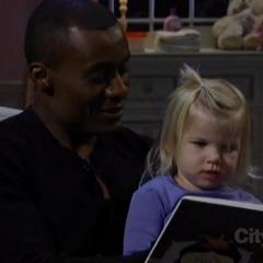 Shawn reads to Josslyn