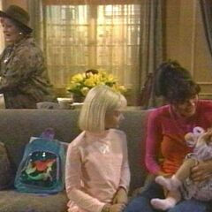 Baby Christina with mom, sister and aunt Charlene