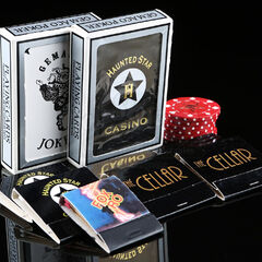 Original <b>The Haunted Star</b> deck of cards, chips, and matchbooks