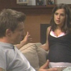 Jason and Sam while pregnant with Lila (2004)