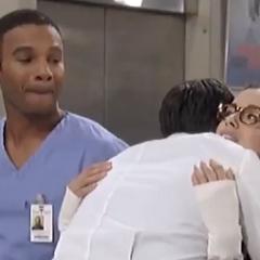 Patrick and Sabrina hug