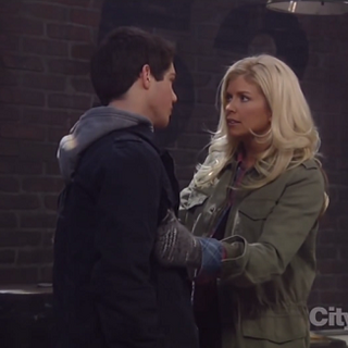 Mother and son, Alison and Rafe