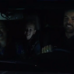 Pregnant Sabrina, Patrick and Emma before the car accident
