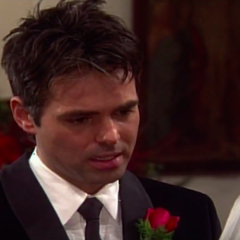 Patrick says his vows to Robin