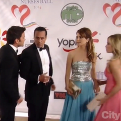 On the red carpet with Sonny and Olivia (2014)
