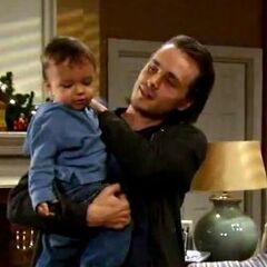 Lucky with son Aiden