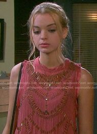 Claires-coral-beaded-top