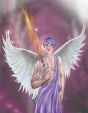 Archangel zadkiel by dreamstone