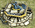 Machine gun fortification icon