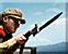 Red guard bayonet icon