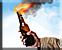 Rebel molotov cocktail icon